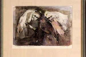 Külliki-Järvila-Kolmekesi-Akvarell,-Carborundum1-1,-53x50,-2001