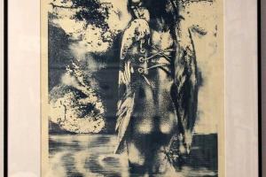 Külliki-Järvila---Sinine-veeingel-kivilitograafia-2004,-65-x-51