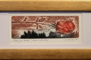 """""""Roos ja ööbik"""" 2017 30,5 x 15 cm"""