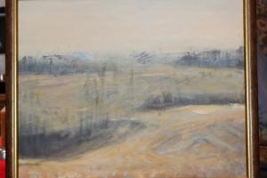 """Lea Liblik """"Maastik"""" (õli), 45 x 55 cm. 520.-"""