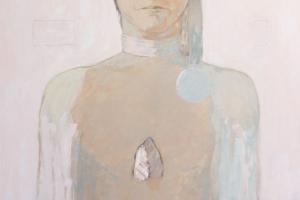 "Leho Rubis - ""Murtud sulg"" (õli) 2017. 91 x 130 cm"