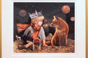 "Made Balbat ""Väike prints"" (digigraafika) 2018. 52 x 48 cm."