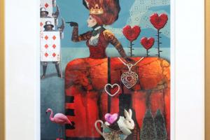 """Made Balbat """"Kuninganna"""" (digigraafika) 2021. 47 x 55,5 cm"""