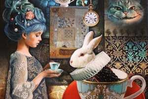 "Made Balbat ""Alice"" (print lõuendil) 2018. 50,5 x 60,5 cm"