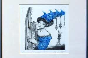 "Made Balbat ""Unemängud"" (kuivnõel), 38,5 x 38,5 cm"
