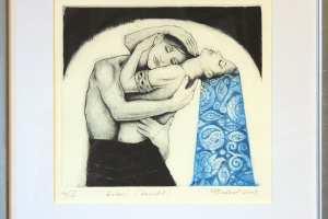 "Made Balbat ""Embus"" (kuivnõel) 2003. 24,5 x 35,5 cm."