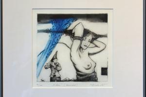 "Made Balbat ""Vihm"" (kuivnõel)40 x 39,5 cm"