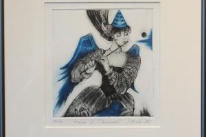 """Made Balbat """"Muusa III"""" (kuivnõel) 32 x 35 cm"""