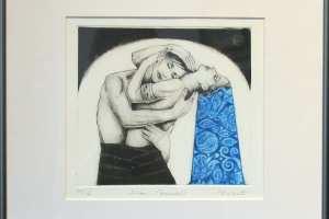 "Made Balbat ""Embus"" (kuivnõel) 40 x 39,5 cm"
