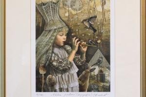 "Made Balbat ""Väike printsess"" (digigraafika) 32,5 x 40,5 cm."
