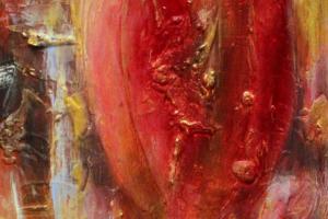 """Monica del Norte """"Sündija võim"""" 2019, 83 x 38 cm"""