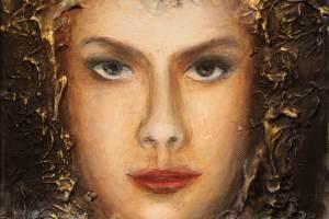 """Monica del Norte """"Peaingel Miikael"""" 2018, õli, 25 x 30 cm"""