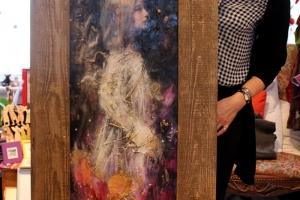 """Monica del Norte """"Tõsta oma hääl"""" 2018, 68 x 180 cm"""