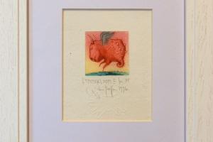 """""""Lemmikloom III"""" (kuivnõel) 1996. 25 x 19 cm"""