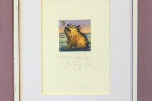 """Sõbrad"" (kuivnõel) 1997. 25 x 19,5 cm"