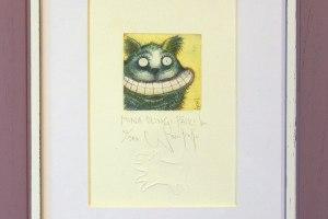 """""""Mina olengi päike"""" (kuivnõel) 2004. 25 x 19,5 cm"""