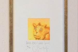 """""""Kolm pole vähe"""" (kuivnõel) 1999. 14 x 22 cm"""