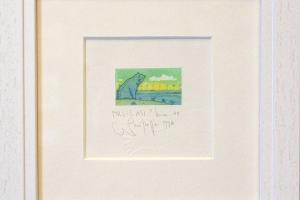 """Navitrolla """"Milles asi?"""" (kuivnõel) 1998. 19 x 19 cm."""