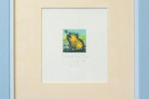 """Navitrolla """"Sõbrad"""" (kuivnõel) 1997. 25 x 25 cm."""