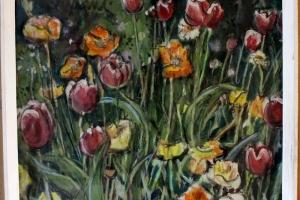 Paul Elken akvarell 1990 Tulbid 47x47 650_