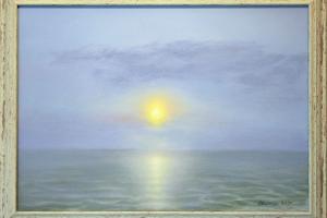 """Peeter Kaasik """"Merevalgus"""" (õli) 2020. 66 x 49 cm. Hind 800.-"""