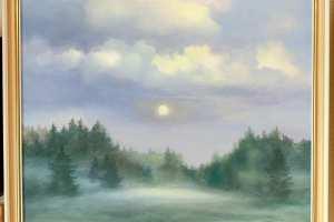"""""""Kuuvalgus"""" õli, 2019. 73 x 62 cm. Hind 950.-"""