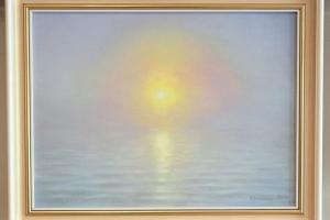 """Loojang merel"" õli, 2019. 46 x 35 cm. Hind 500.-"