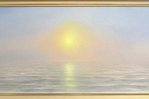 """""""Merevalgus"""" õli, 2019. 92 x 47 cm. Hind 1200.-"""
