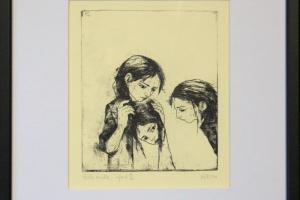 """Reti Saks """"Ütle mulle"""" 1999. 31 x 27,5 cm"""