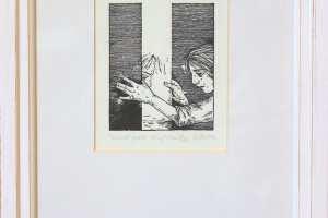 """Reti Saks """"Teiselt poolt"""" (kõrgtrükk) 2012. 34,5 x 25,5 cm."""