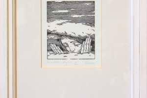 """Reti Saks """"Lumetekk"""" (kõrgtrükk) 2012. 34,5 x 25,5 cm."""