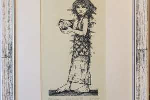 """Reti Saks """"Kalalaps"""" (kõrgtrükk) 2003. 35 x 26 cm."""
