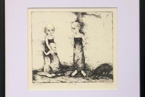 "Reti Saks ""Sebastian"" 1993, 36 x 34 cm"