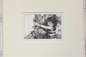 """Reti Saks """"Kallistab puud"""" 2015, 32 x 42 cm"""