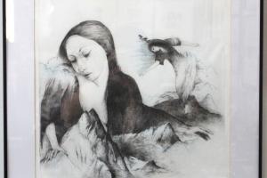 """Silvi Liiva """"Mägi"""" (ofort) 2005. 65,5 x 54,5 cm"""