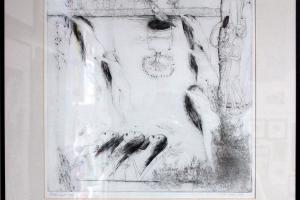 "Silvi Liiva ""Tants"" (ofort) 1970. 53 x 48 cm"