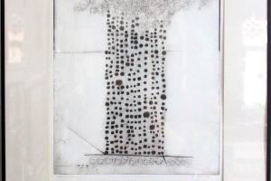 "Silvi Liiva ""Maja"" (ofort) 1971. 57 x 51 cm"