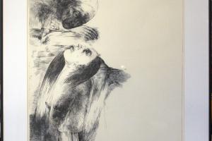 """Silvi Liiva """"Saatja"""" (ofort) 1983. 77 x 55 cm."""