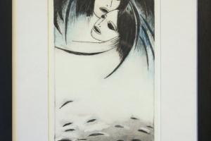 """Silvi Liiva """"Helendus"""" (ofort) 2015, 32 x 23 cm"""