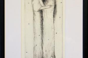 """Silvi Liiva """"Kohtumine"""" (ofort) 2019. 35,5 x 22 cm"""