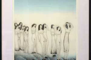 """Silvi Liiva """"Hommik"""" (ofort) 2015. 63 x 72,5 cm"""