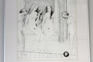 """Silvi Liiva """"Suur suvi"""" (ofort) 1970. 53 x 48 cm"""