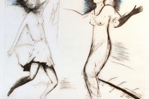 "Silvi Liiva ""Talvest kevadesse"" (ofort) 2005. 50 x 59 cm"