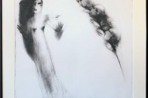 """Silvi Liiva """"Looja"""" (ofort) 1985. 66 x 68 cm"""