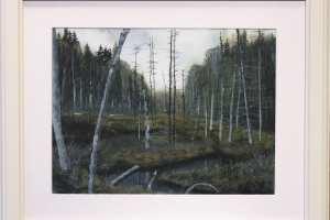"""Ylo Kunks """"Paganamaa maastik"""" akvarell. 2019. 58 x 49 cm. Hind 250.-"""