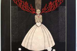 """Viive Noor """"Armastuse puu. Árbol del Amor. Albero dell'amore. Tree of love"""" 2014. 50 x 60 cm"""