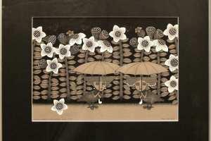 """Viive Noor """"Kohtumine kesköisel promenaadil"""" 2013. 50 x 60 cm"""