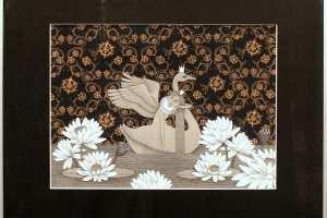 """Viive Noor """"Luigetiigil"""" 2013. 50 x 60 cm"""