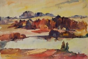 Viivi Perv Võrumaa maastik 125€ 1963