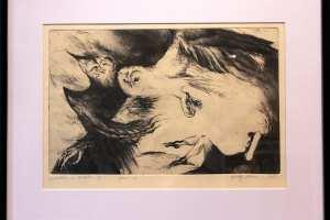 "Yyhely Hälvin ""Milleks ta võimeline on"" (ofort) 2011. 56,5 x 44,5 cm"